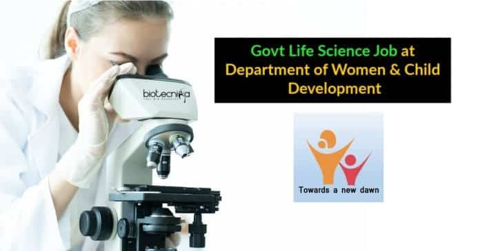 Govt Life Science Job