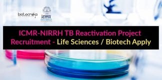 ICMR-NIRRH Project Recruitment