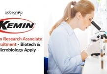 Kemin Research Associate Recruitment