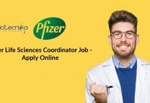 Pfizer Life Sciences Coordinator Job