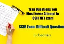 CSIR Exam Difficult Questions
