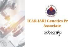 ICAR-IARI Genetics Project Associate
