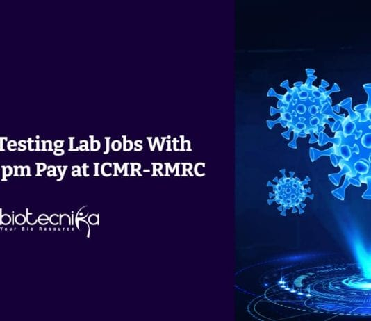 ICMR-RMRC Life Science Jobs