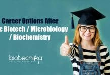 Career options after Bsc Biotech
