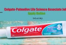 Colgate-Palmolive Life Science Associate