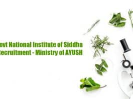 Govt AYUSH Job Openings