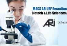 MACS ARI JRF Recruitment