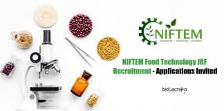 NIFTEM Food Tech JRF