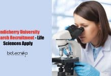 Pondicherry University Research Recruitment