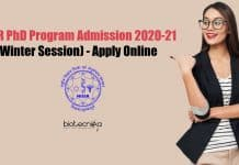 NISER PhD Admission 2020-2021