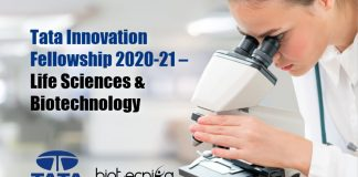 Tata Innovation Fellowship 2020-21 – Tata Innovation Fellowship 2021