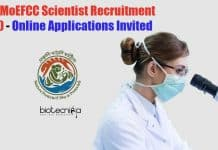 MoEFCC Scientist Recruitment 2020