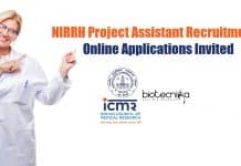 NIRRH Project Assistant Recruitment