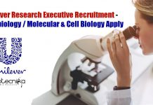 Unilever Research Executive Recruitment
