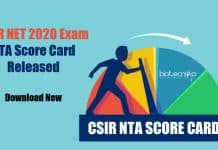 CSIR-NET 2020 Score Card Released - Download Now