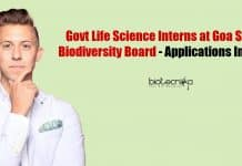 Govt Life Science Interns