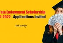 J.N. Tata Endowment Scholarship