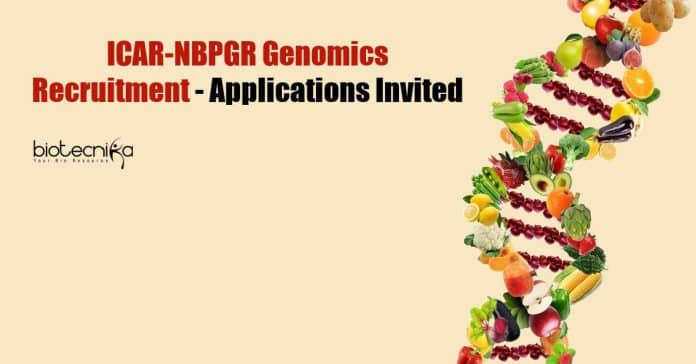 ICAR-NBPGR Genomics Recruitment