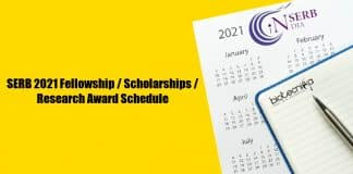 SERB 2021 Fellowships List
