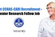 Govt CCRAS-CARI Recruitment