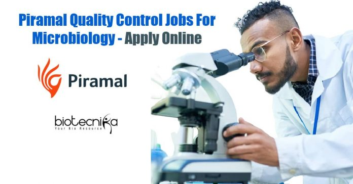 Piramal Quality Control Jobs