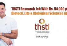 THSTI Research Job