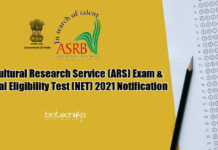 ARS-2021 Exam Notification