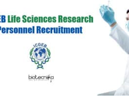 ICGEB Vacancies For Lifesciences